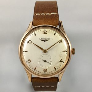 longines calibro 22a rose gold