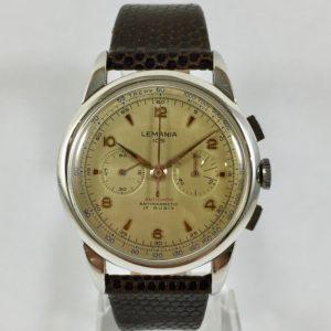 chronograph vintage lemania 105
