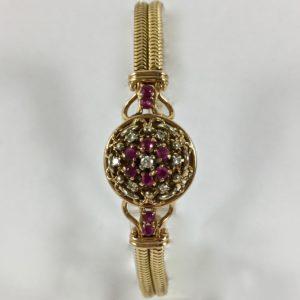 orologio gioiello diamanti e rubini